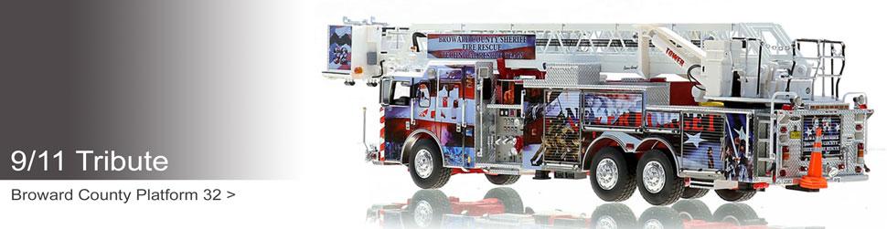 Museum grade 9/11 Tribute replicas including Broward County P32