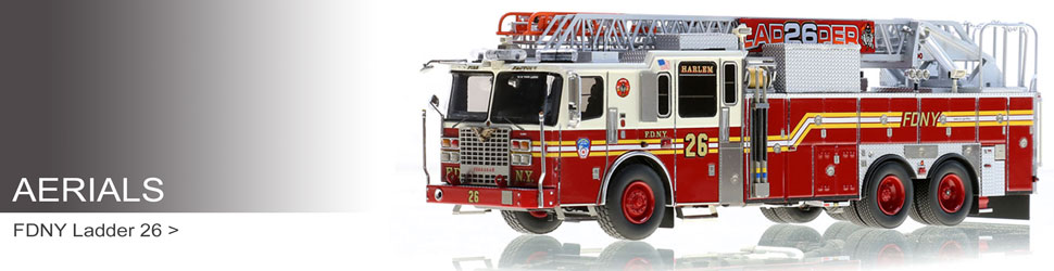 Shop Aerials scale models including FDNY Ladder 26