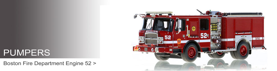 Shop museum grade scale models of pumpers