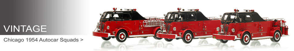 Shop museum grade Vintage scale models including the Chicago Autocar Squads!