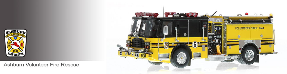 Shop museum grade AVFRD scale models including Engine 606!