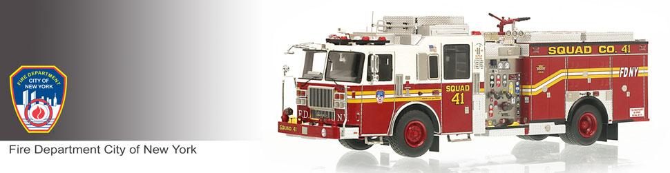 Shop museum grade FDNY scale models including FDNY Squad 41!