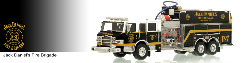 Shop museum grade Jack Daniel's scale models including the P-7 Pumper!