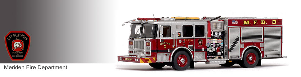 Shop museum grade Meriden scale models including the Seagrave Marauder II Engine 3!