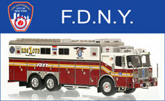 Shop FDNY scale models including Rescue 1