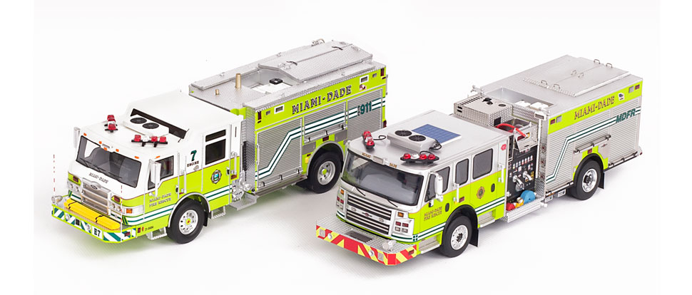 MDFR Pierce PUC 7 and Rosenbauer Engines