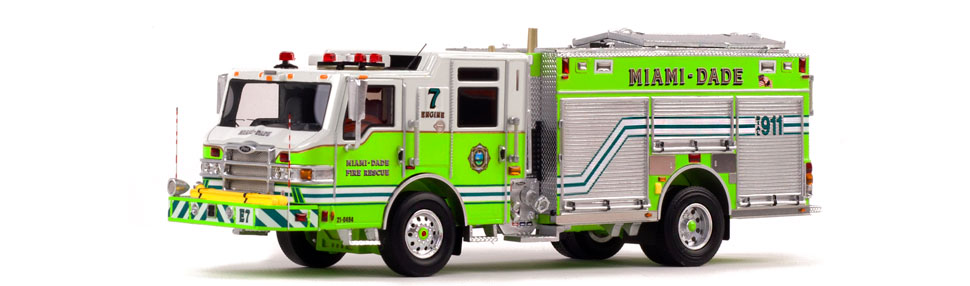 Miami-Dade PUC Engine 7 is hand-crafted with over 300 parts.