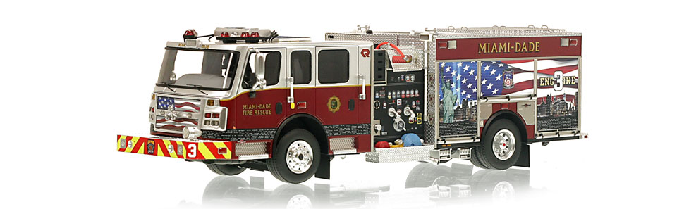 Miami-Dade Engine 3 is hand-crafted using nearly 400 parts.