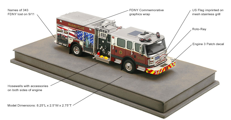 Full specs of Miami-Dade's 9/11 Tribute Engine 3