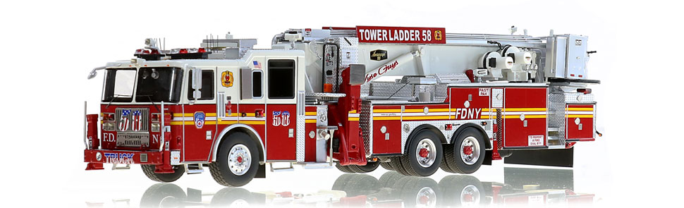 FDNY's first museum grade Seagrave Tower Ladder