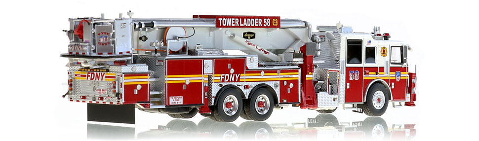 Tower Ladder 58 is hand-crafted using over 500 parts.