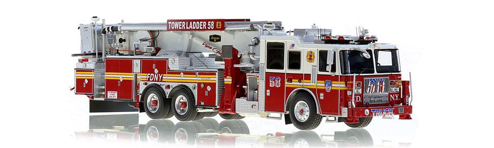 Tower Ladder 58 features razor sharp, museum grade precision