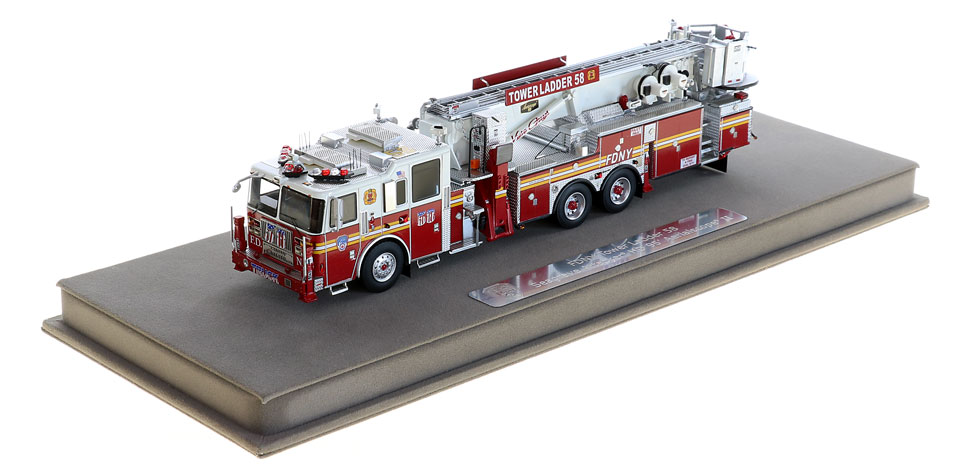 Tower Ladder 58 includes a fully custom display case.