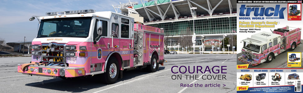 PGFD Courage featured on the cover of Truck Model World