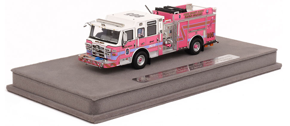 PGFD Courage includes a fully custom display case.