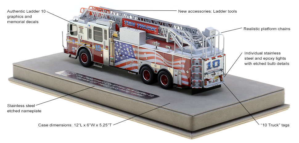 Every detail is unique to FDNY Ten Truck