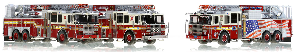 FDNY Ladders 10, 26 and 38.