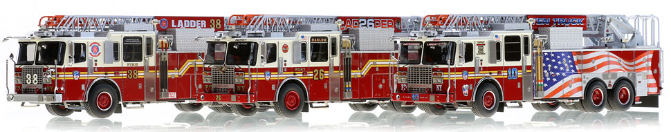 FDNY Ladders 10, 26 and 38 are museum grade replicas