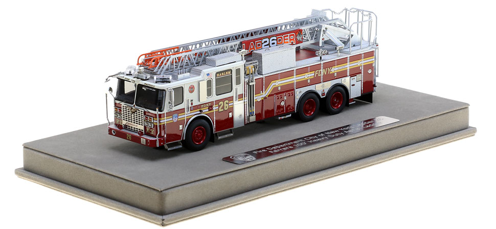 FDNY Ladder 26 includes a fully custom display case
