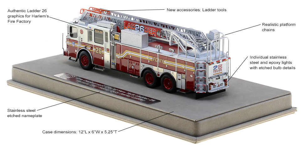 Every detail in authentic to FDNY Ladder 26