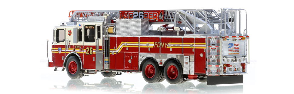 Authentic to FDNY Ladder 26 in every detail.