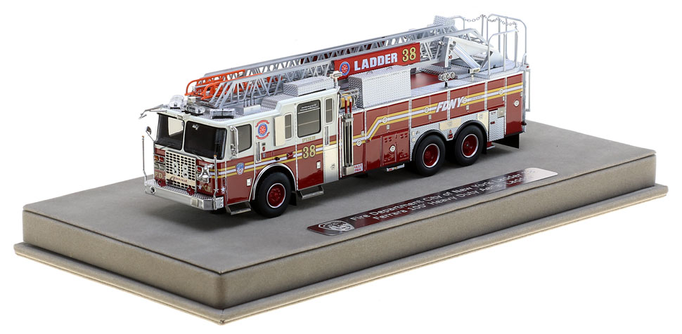 FDNY Ladder 38 includes a fully custom display case