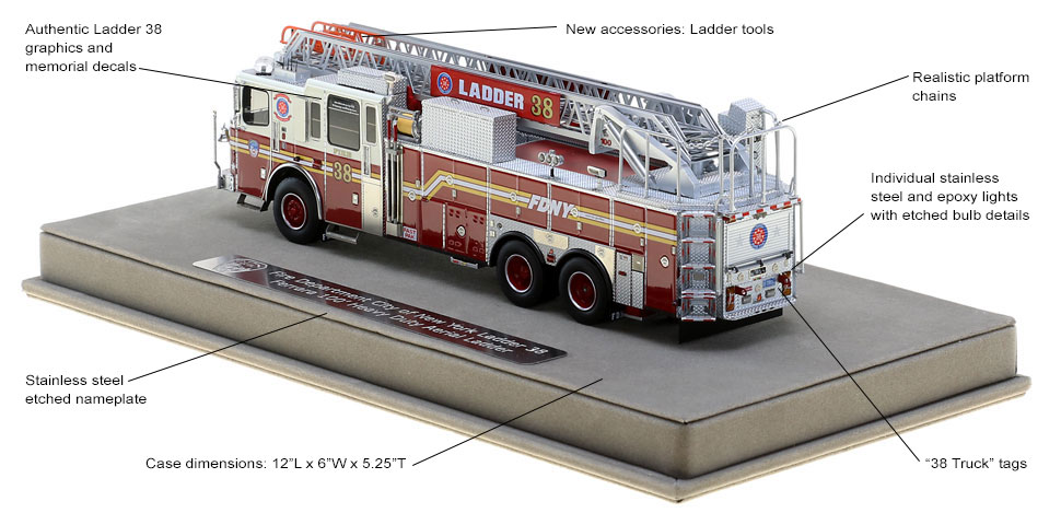 Every detail is unique to FDNY Ladder 38