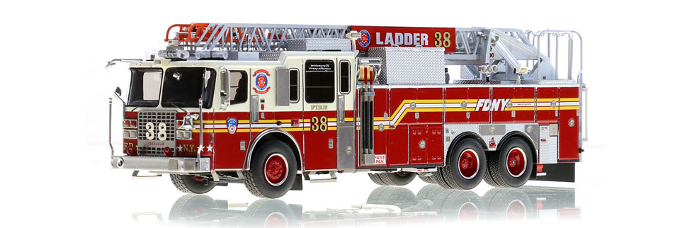 The first museum grade FDNY Ladder 38 scale model