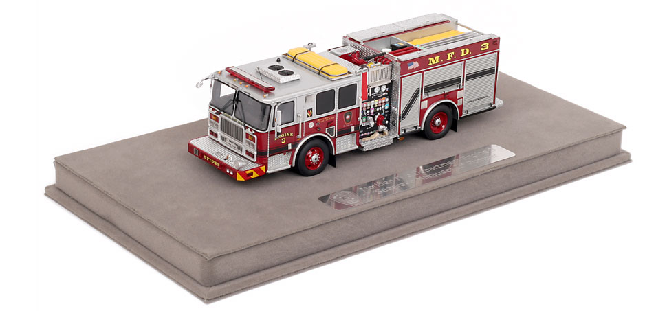 Meriden Engine 3 includes a fully customized display case.
