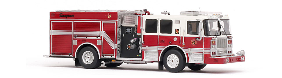 Seagrave Marauder II - 2017 Limited Edition features Seagrave demo truck graphics.