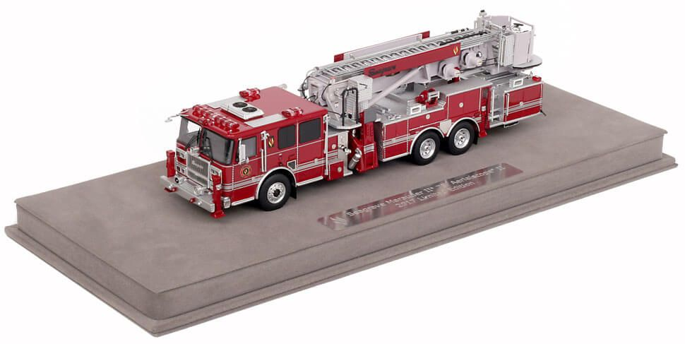Fire Replicas include a fully custom display case