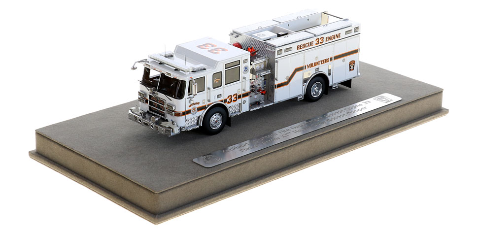 Kentland Rescue Engine 33 includes a fully custom display case