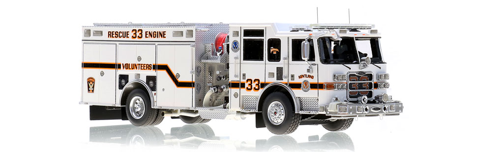 Kentland Rescue Engine 33 is hand-crafted using over 500 parts