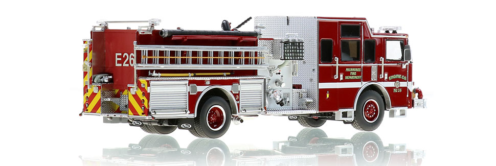 Milwaukee Engine 26 features 1:50 scale precision