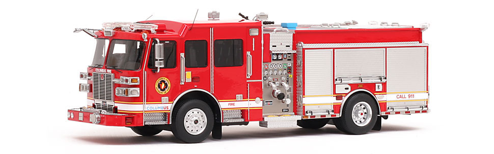 fire replicas columbus division of fire sutphen monarch engine scale