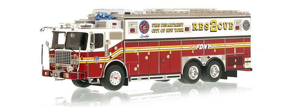 FDNY Rescue 2 is hand-crafted using over 600 parts.