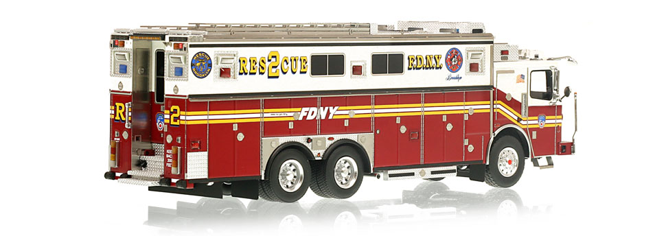 Authentic to FDNY Rescue 2 Ferrara Heavy Rescue
