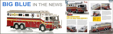 FDNY Rescue 3 featured in Truck Model World, U.K.