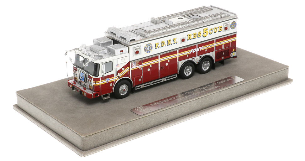 FDNY Rescue 5 includes a fully custom display case.