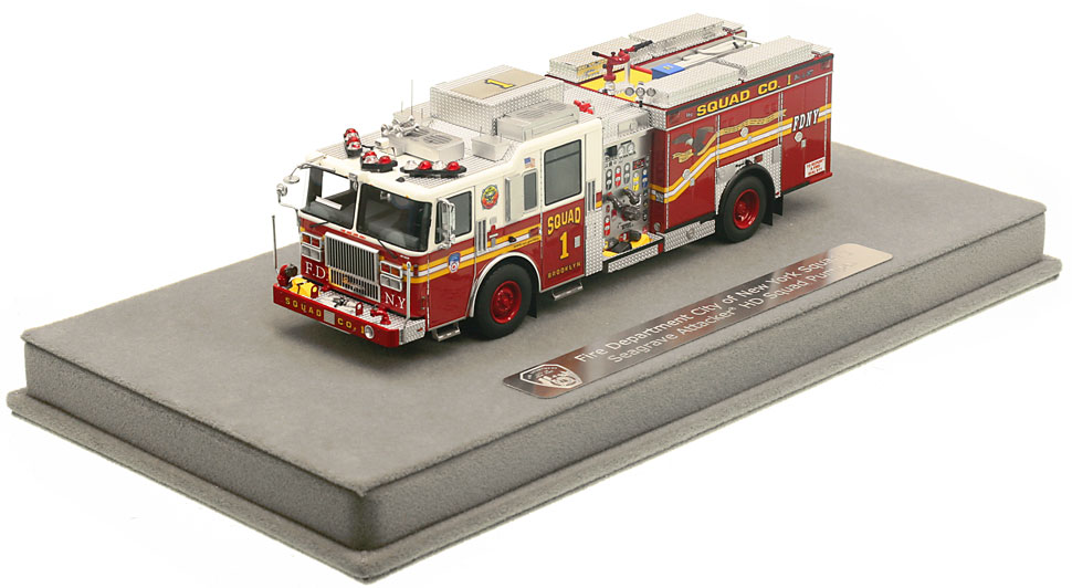 FDNY Squad 1 includes a fully custom display case.