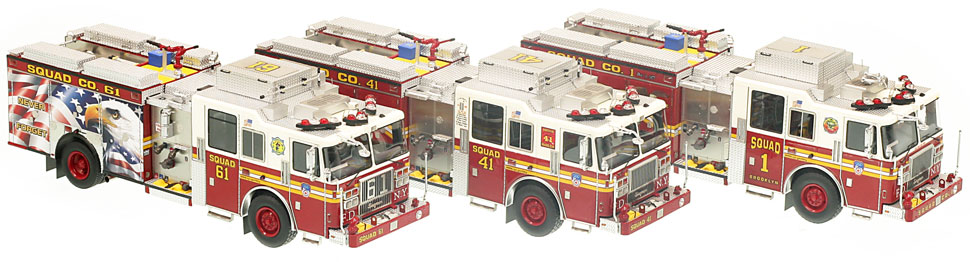 Each of the FDNY Squads are built specifically for each Squad Company