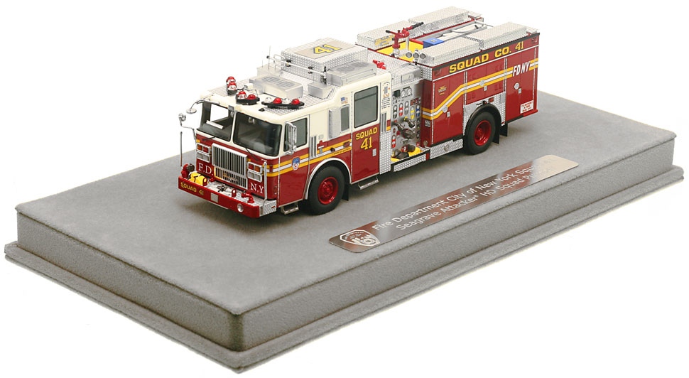 FDNY Squad 41 includes a fully custom display case.