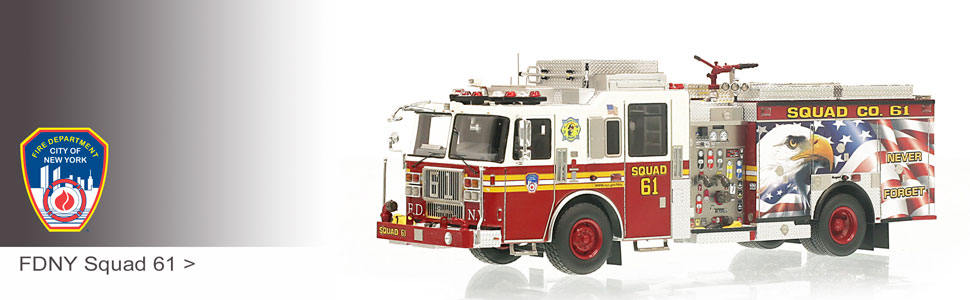 FDNY Squad 61 scale model fire truck