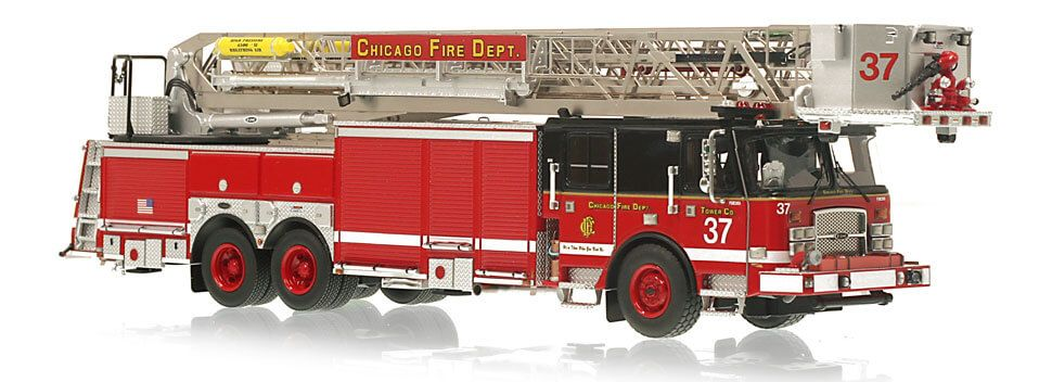 Chicago Fire Department Tower Ladder 39 museum grade scale model