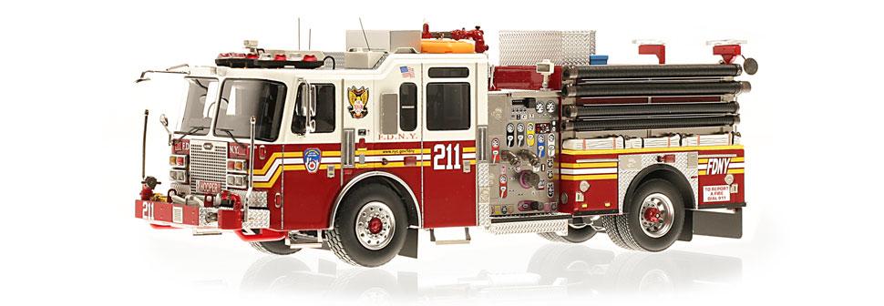 FDNY Engine 211 replica features razor sharp accuracy