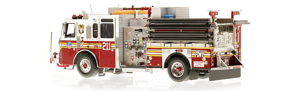 FDNY Engine 211 is hand-crafted using over 475 parts.