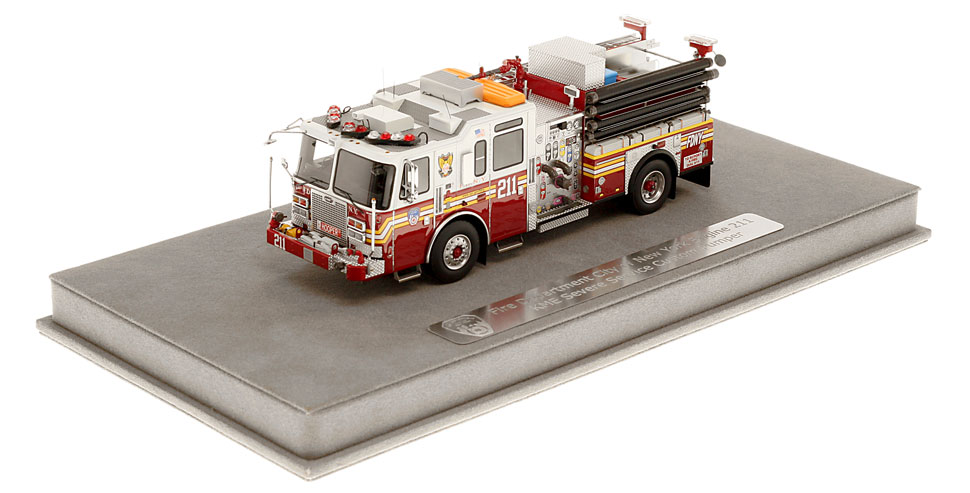 FDNY Engine 211 includes a fully custom display case.