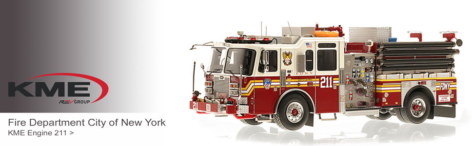 KME museum grade scale model fire appartus replicas
