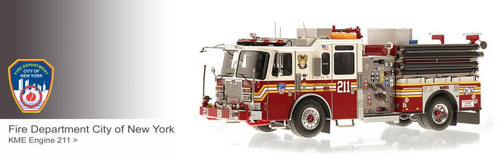 Shop the full line of FDNY scale model fire trucks!