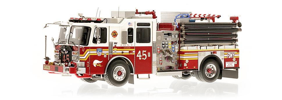 FDNY Engine 45 replica features razor sharp accuracy